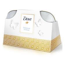 Подарочный набор <b>DOVE</b> Праздничная коллекция, 100 г+50 мл+ ...