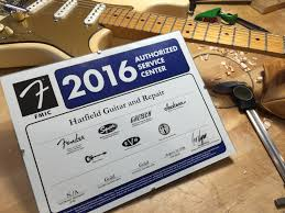hatfield guitar and repair llc guitar repair and fretted we are now fender fmic gold level service providers