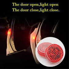 Online Shop <b>2pcs Magnetic</b> Wireless 5 LED <b>Car</b> Door Opening ...