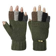 Kata <b>Wool Blend</b> Knitted Winter Warm <b>Gloves</b> Fingerless <b>Mittens</b> for ...