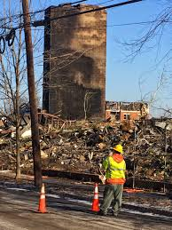 avalon edgewater building was designed to burn down eye on the a pse g crewman dwarfed by an elevator tower restoring power to the neighborhood as other workers were putting up fencing and cleaning up water and smoke