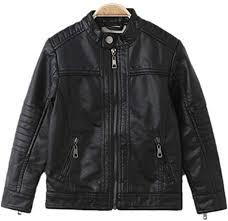 Liao Chen Xuan Boy's <b>Moto</b> Trendy <b>Stand</b>-<b>Collar</b> PU <b>Leather</b> Spring ...