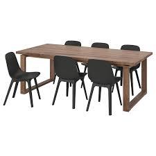 <b>МОРБИЛОНГА</b> / ОДГЕР Стол и 6 стульев, дубовый шпон ...