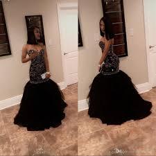 <b>New</b> Black <b>Puffy Prom</b> Dresses <b>2019</b> Sweetheart Mermaid Style ...