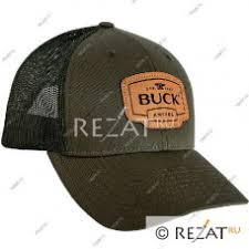 <b>Бейсболка Buck</b> OD Green <b>Leather</b> Patch Cap B89139