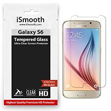 samsung galaxy s6 screen protector tempered glass ismooth ultra clear amazoncom tempered glass