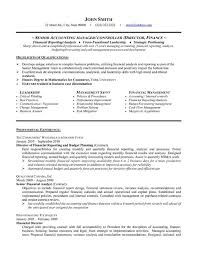 professional templates examples of accounting resumes