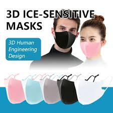 3D Adult Mask Breathable <b>Ice</b> Silk <b>Cotton Earloop</b> Mouth Cover ...