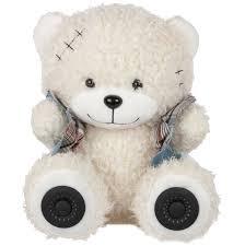 Купить <b>портативную колонок ritmix st-250</b> bear bt white по цене от ...