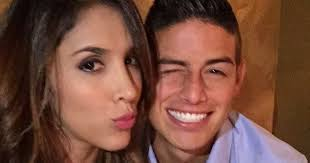 James Rodríguez with friendly, Wife Daniela Ospina
