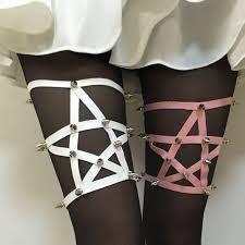 Star Rivet Leg Garters 2015 <b>New Fashion Harajuku</b> rivet PUNK one ...