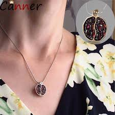 2019 <b>CANNER</b> Long Pendant Necklaces <b>Gold</b> Natural Garnet <b>Stone</b> ...