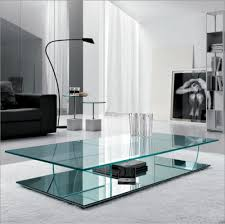 living room cocktail table glass