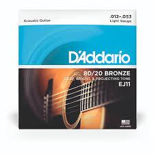 HC1875246 - D'Addario 80-<b>20 Bronze</b> String <b>Set</b> - Light   Findel ...