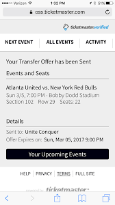 managing your tickets atlanta united fc your contact will receive an email instructions for accepting your transfer