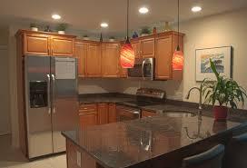 track lighting kitchen cherry