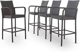 Christopher Knight Home Delfina Outdoor Wicker <b>Barstools</b>, <b>4</b>-<b>Pcs</b> ...