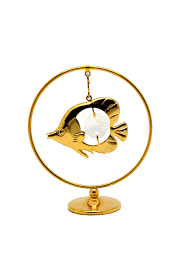 <b>Фигурка</b> сувенирная <b>CRYSTOCRAFT</b>, 269-105-GCL <b>Рыбка</b> в кольце