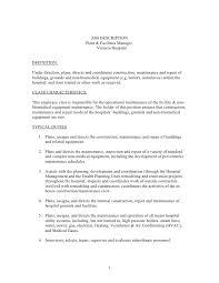 facilities manager job description sample restaurant accountant contract manager job description
