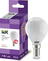 <b>Лампа светодиодная G45</b> шар матовая 7Вт <b>230В</b> 3000К <b>E14</b> ...