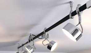 ceiling track lighting. retro styled mains track system black u0026 chrome ceiling lighting