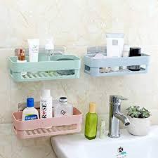 Chiak Household Kitchen Bathroom Shower Shelf <b>Hollow Out</b> ...