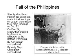 「1942, president roosevelt ordered macaurthur to withdraw from philippines」の画像検索結果