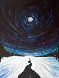 Image result for moon and snow