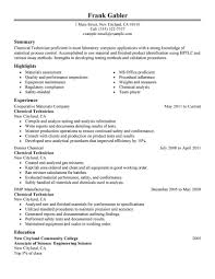 resume for quality control sample customer service resume resume for quality control quality manager resume example chemical technicians resume example my perfect resume
