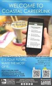 best images about ccga career services events coastal careerlink s new mobile app allows you to manage your job search right from your mobile