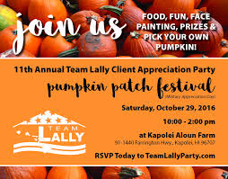 team lally s 11th client appreciation party aloun farms kapolei in appreciation of all our clients that have trusted us for over a decade we wanted to let everyone know to save the date for 29th for our 11th