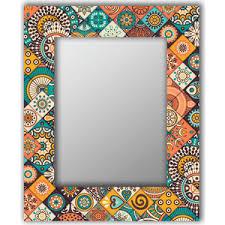<b>Настенное зеркало Дом Корлеоне</b> Индийская плитка 75x140 см ...