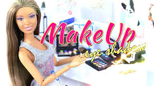 how to make doll make up eye shadow doll crafts