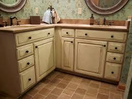 Painted Glazed Kitchen Cabinets Fine Glaze Finish Kitchen Cabinets Ivory For Design