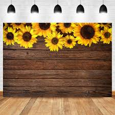NeoBack Wooden <b>Sunflower</b> Backdrop <b>Flower</b> Birthday Party ...