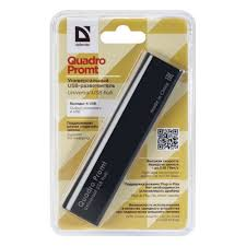 <b>Разветвитель USB Defender</b> Quadro Promt <b>USB</b> 2.0, 4 порта (83200)