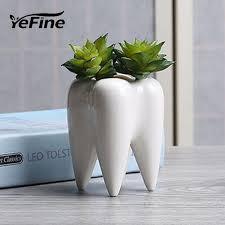 Yefine белый Керамика мясистые маленький горшок настольная ...