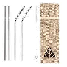 Buy Rusabl Straw - Reusable <b>Stainless Steel</b> Metal <b>Straws</b> - Pack of ...