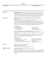 resume examples for marketing and s cipanewsletter sample resume resumes professional experience regional s hotel and