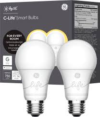 <b>C</b> by GE <b>C</b>-Life A19 Bluetooth Smart LED Bulb (<b>2</b>-Pack) <b>White</b> ...