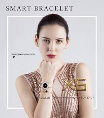 LEMFO <b>X6</b> Lady Smart <b>Bracelet</b> IP68 Waterproof Steel Strap Heart ...