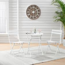 Mainstays <b>3</b>-<b>Piece</b> White <b>Folding Bistro</b> Table and Chair Set ...