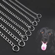 Металлический Нержавеющая сталь собачий <b>ошейник с цепью</b>...