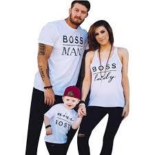 Muxika <b>Happy Family</b> Letter <b>Printing</b> Short Sleeve T-Shirt Gift for Kid ...