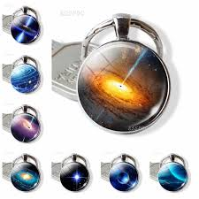 Universe Galaxy <b>Planet Keychain Solar System</b> Earth Moon Mars ...