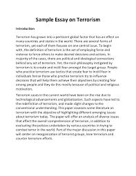 essay on terrorism in english wwwgxartorg sample essay on terrorism