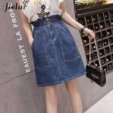 <b>Jielur</b> 2019 Kpop Oversized Summer Female A line Skirts Solid ...