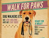 Dog Walkers Flyer Template 2 on Behance
