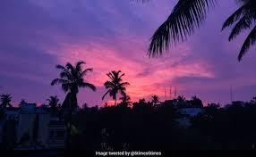 Bhubaneswar Sky Turns <b>Pink And Purple</b> After Cyclone Amphan ...