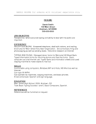 volunteer resume sample experience resumes volunteer resume sample